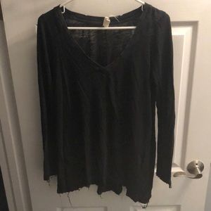 Free people frayed hem LS